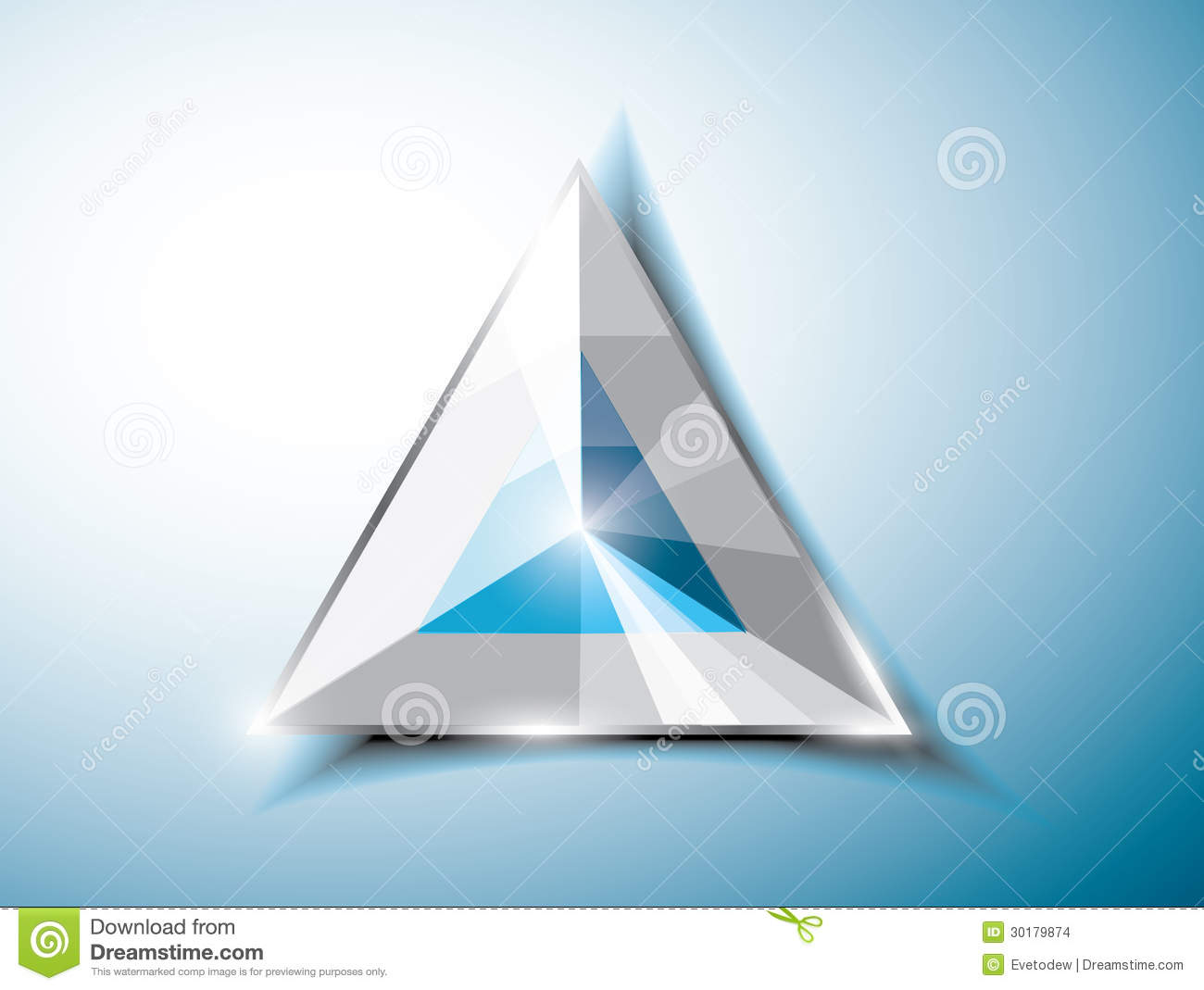 Abstract triangle stock images image 30179874 for Triangle concept architecture