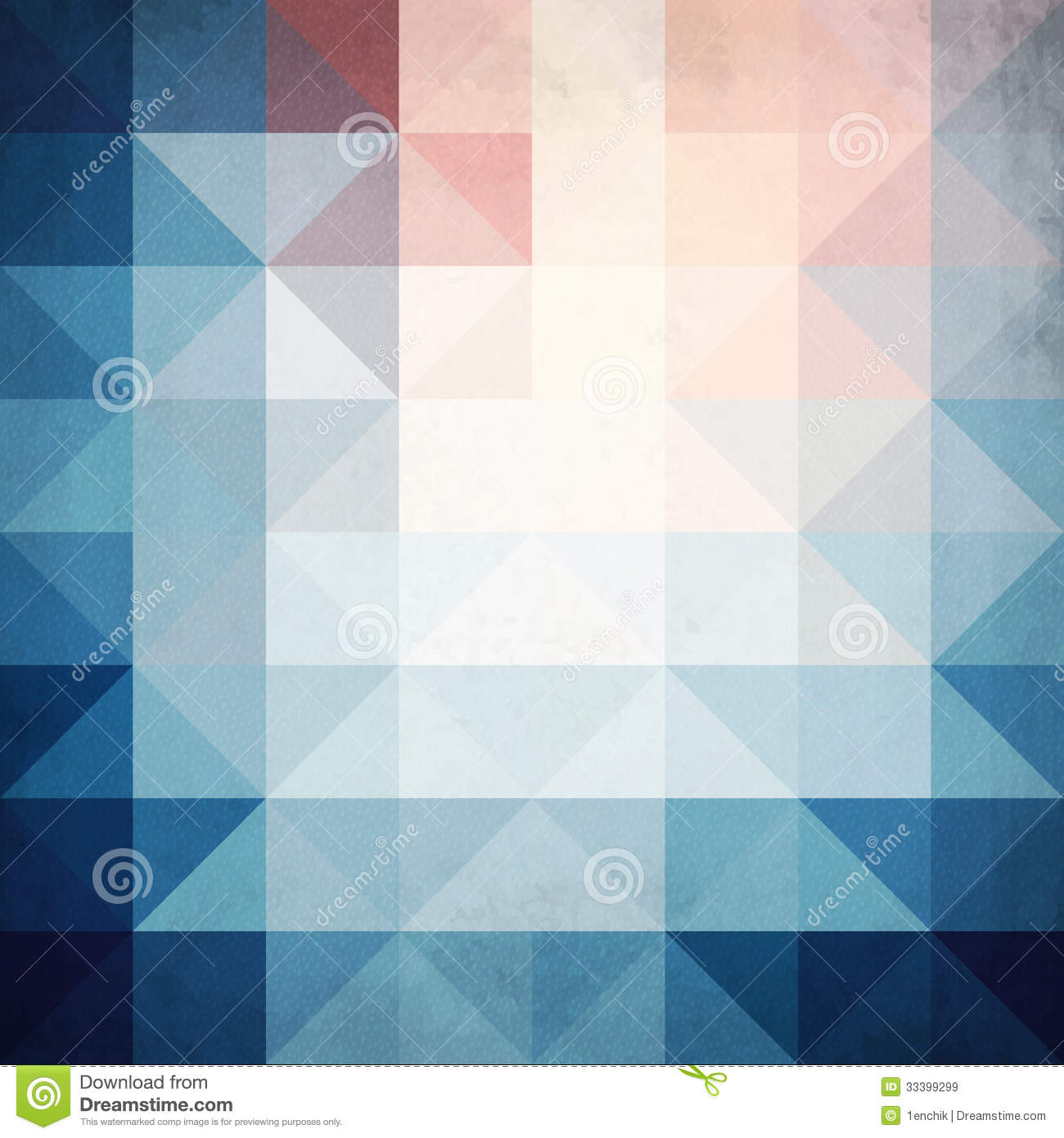 Abstract Blue Triangles Geometry Vector Background Royalty