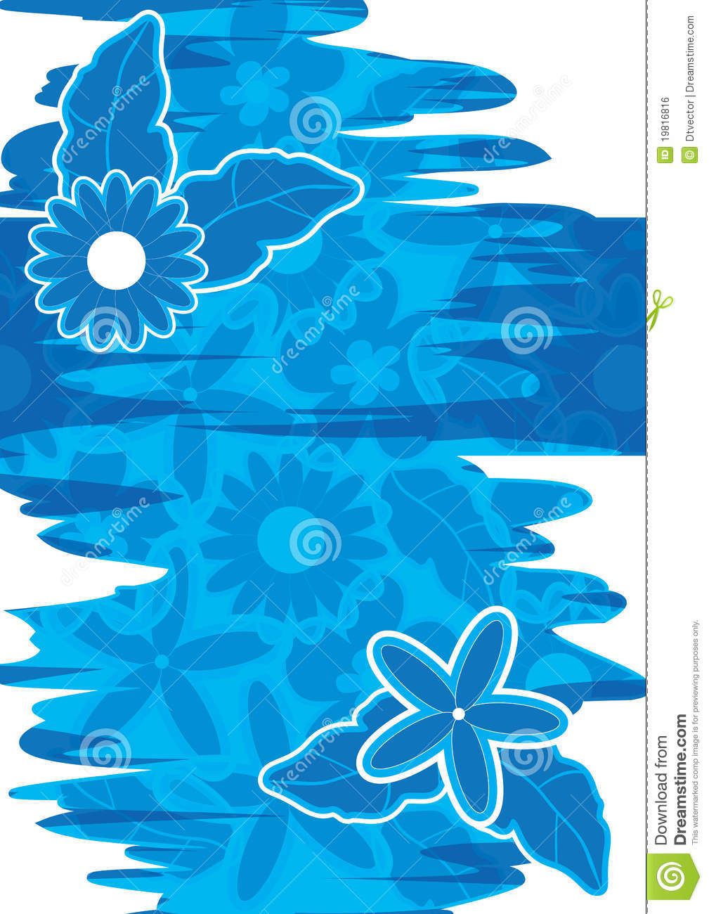 Abstract blue water flowers decoeps stock vector illustration of download abstract blue water flowers decoeps stock vector illustration of decoration event 19816816 izmirmasajfo