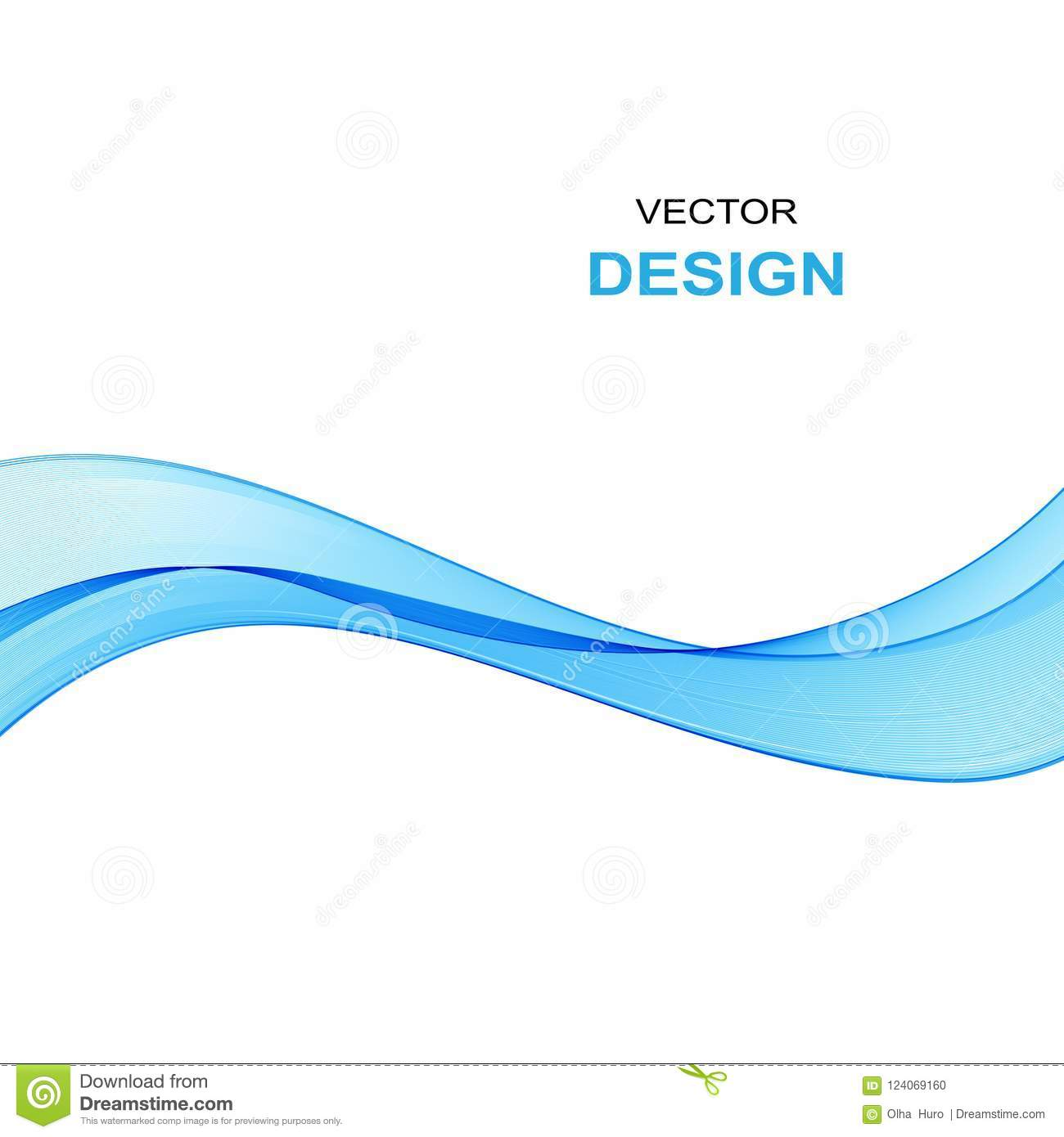 Abstract Blue Wave Background Transparent Blue Wave On White