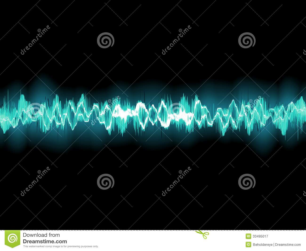 Abstract Blue Waveform  Eps 8 Stock Vector
