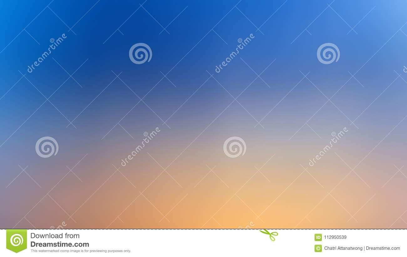 Abstract blur backgroud gradient blue and yellow color