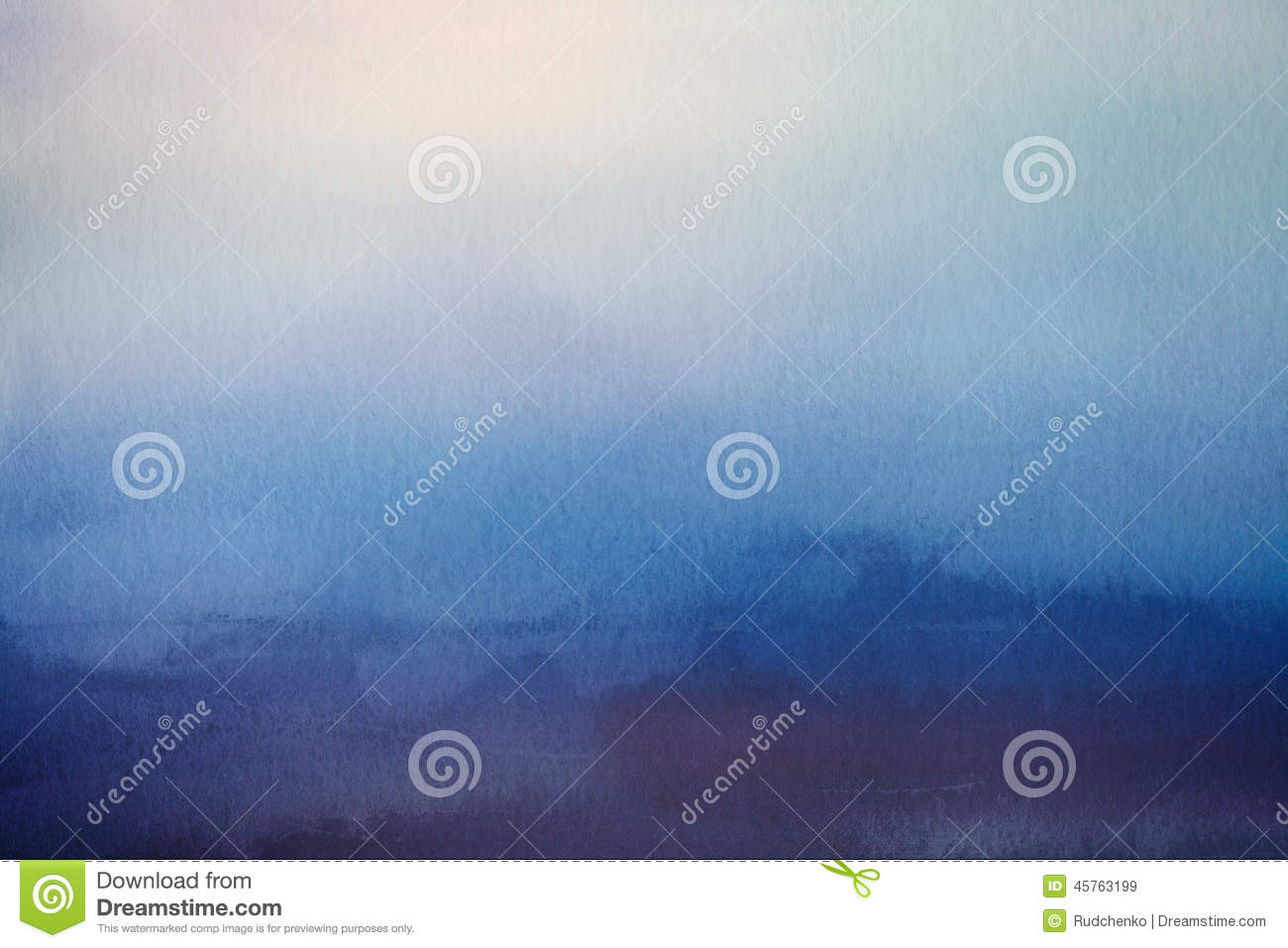 Abstract blur background. Watercolor paper overlay.