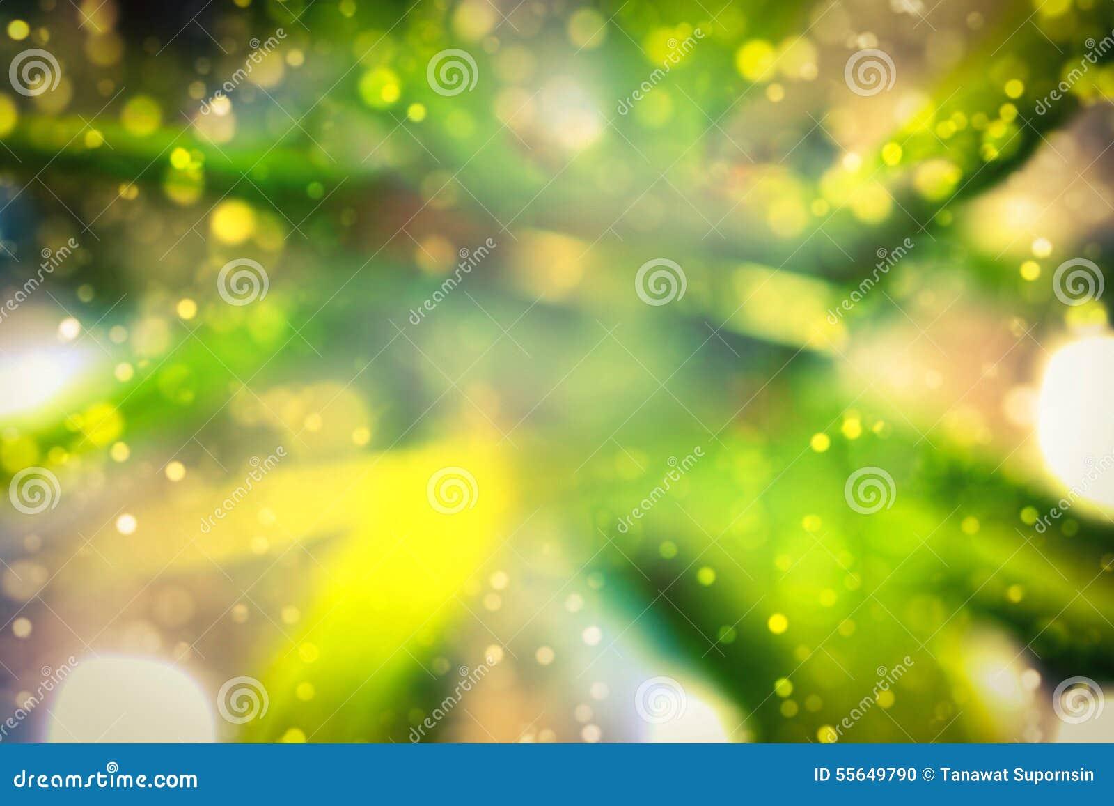 Abstract Blur Bokeh Green Yellow Gold Color Wallpaper Stock Photo ...