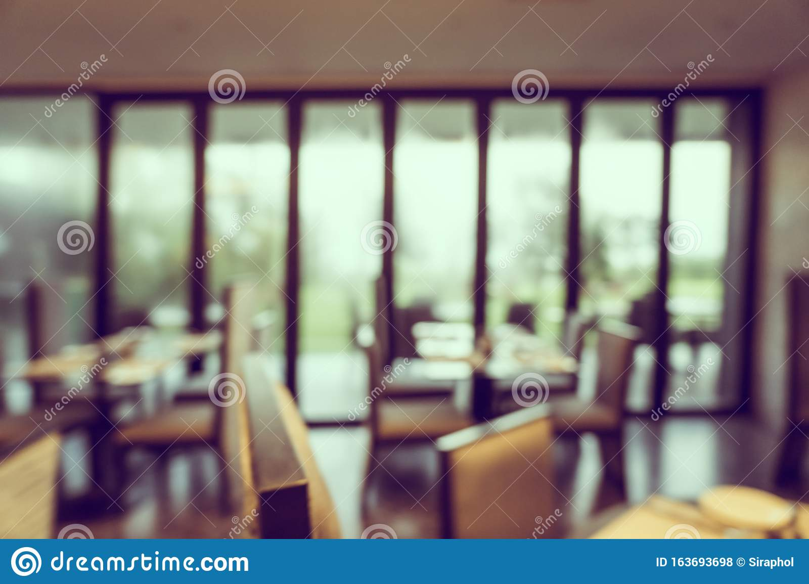 Abstract Blur Coffee Shop Cafe And Restaurant Interior For Background Stock Photo Image Of Cafe Background 163693698