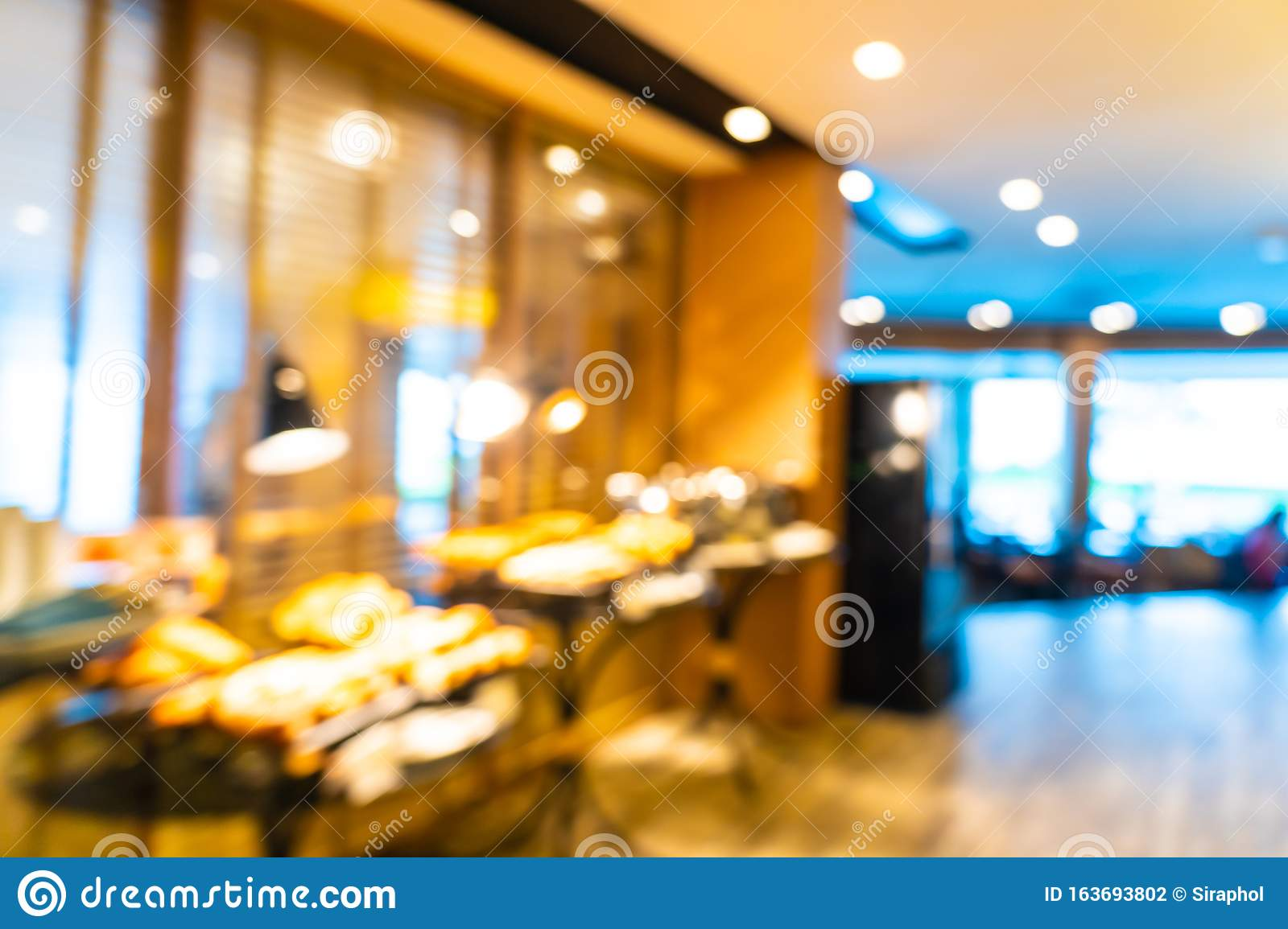 Abstract Blur Coffee Shop Cafe And Restaurant Interior For Background Stock Photo Image Of Barista Interior 163693802