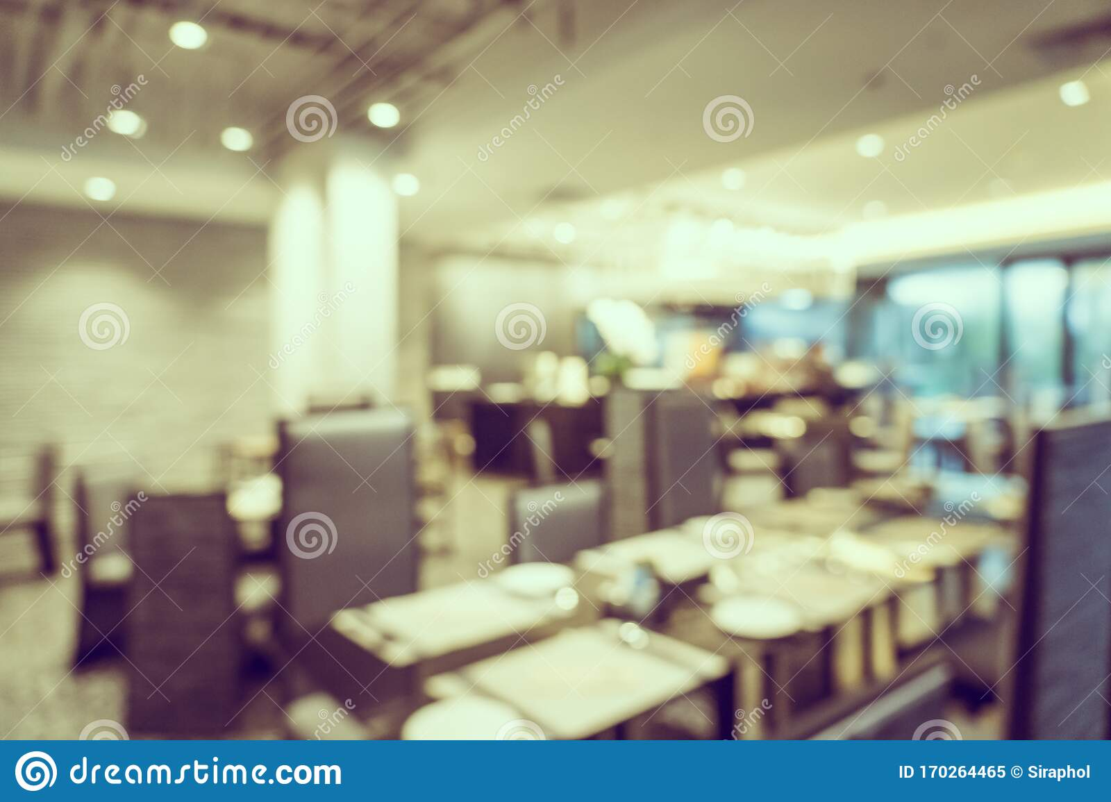 Abstract Blur Coffee Shop Cafe And Restaurant Interior For Background Stock Image Image Of Business Blurry 170264465