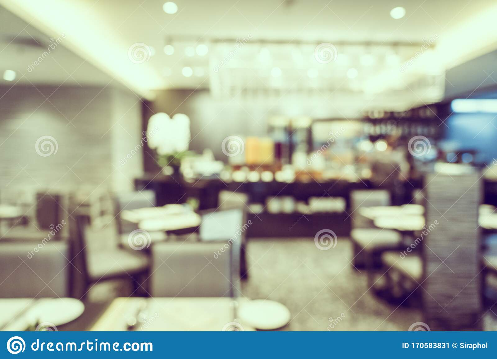 Abstract Blur Coffee Shop Cafe And Restaurant Interior For Background Stock Image Image Of Blur Retail 170583831