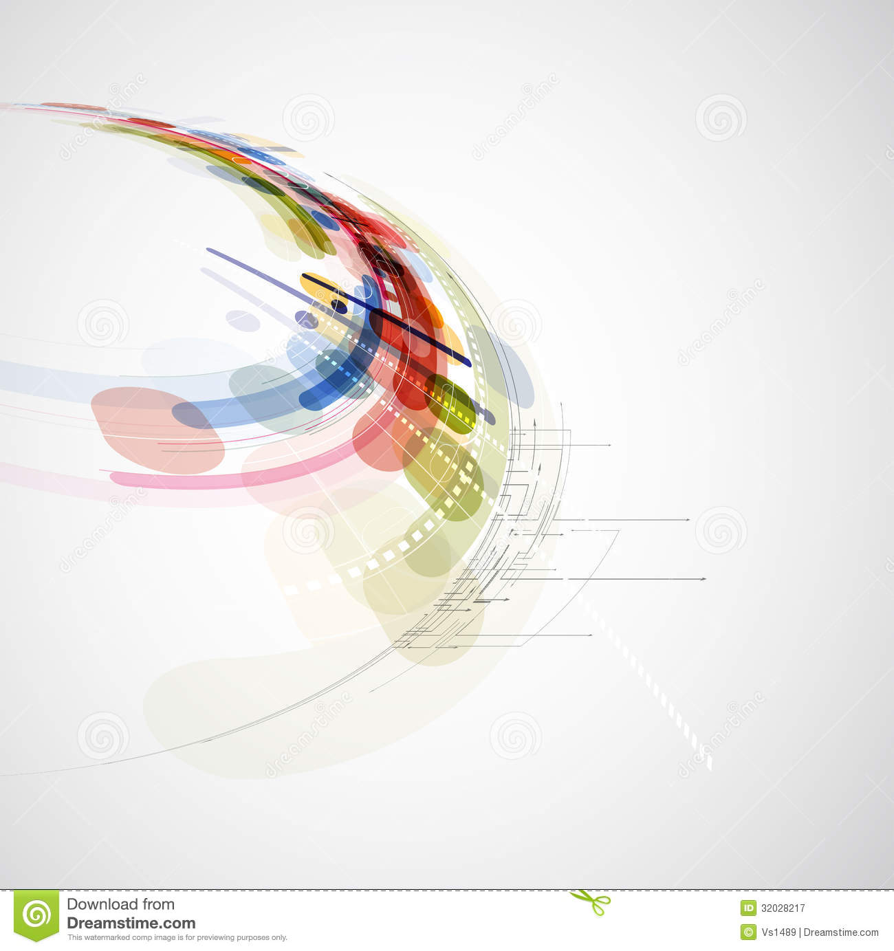 Abstract Blur Computer Technology Business Connection Royalty Free ...