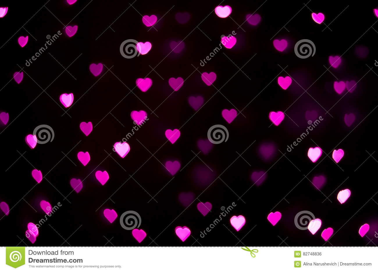 Abstract - blur pink heart lights - love sign