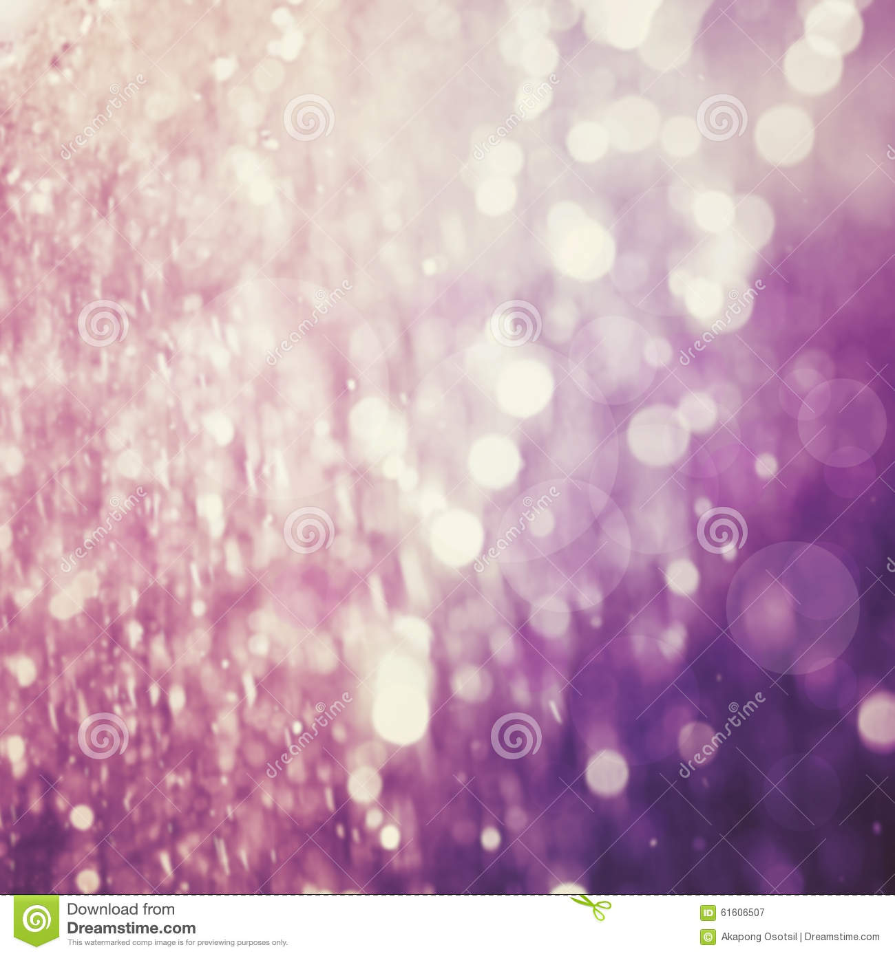 Abstract blur of purple color bokeh lighting as background
