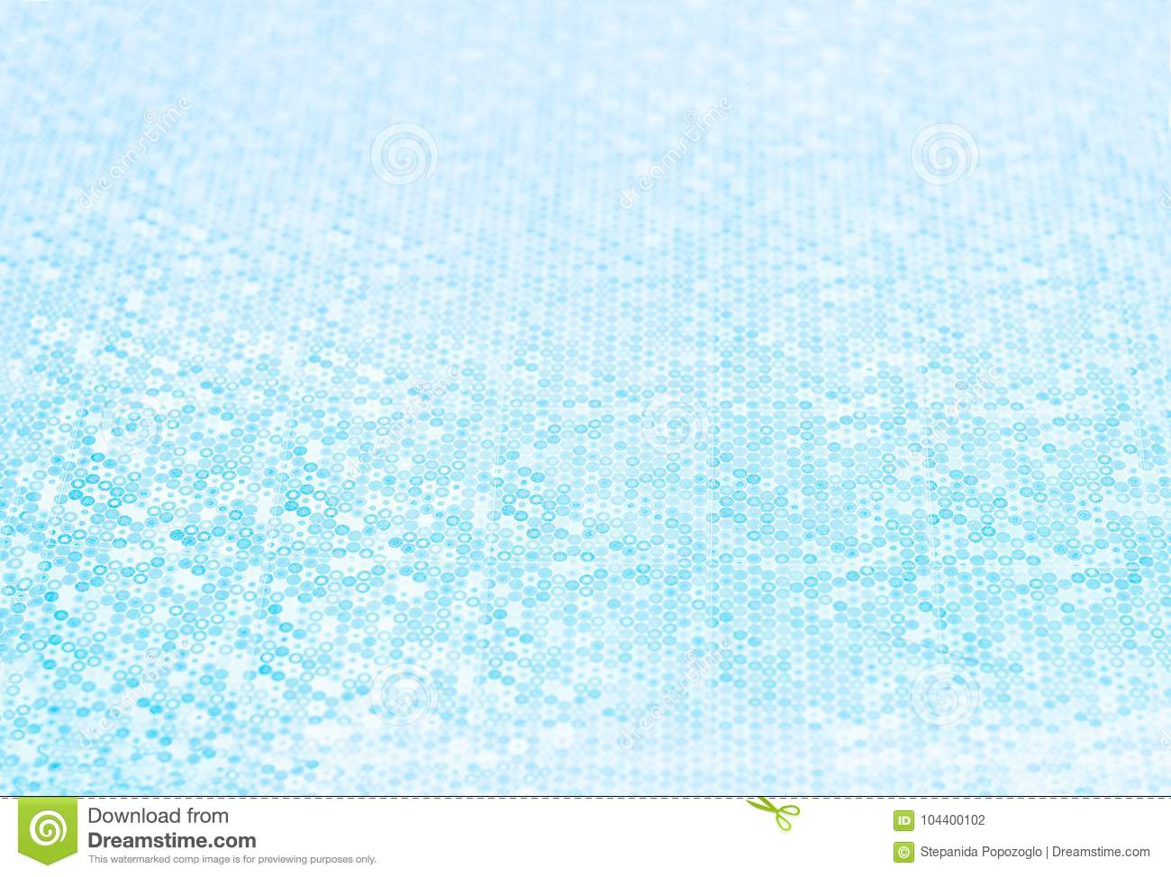 Abstract Blurred blue tone background with a small depth of field. Circular bokeh background.