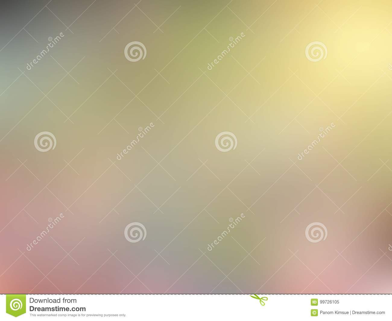 Abstract Blurred Brown Pink Green And Yellow Colored Background With