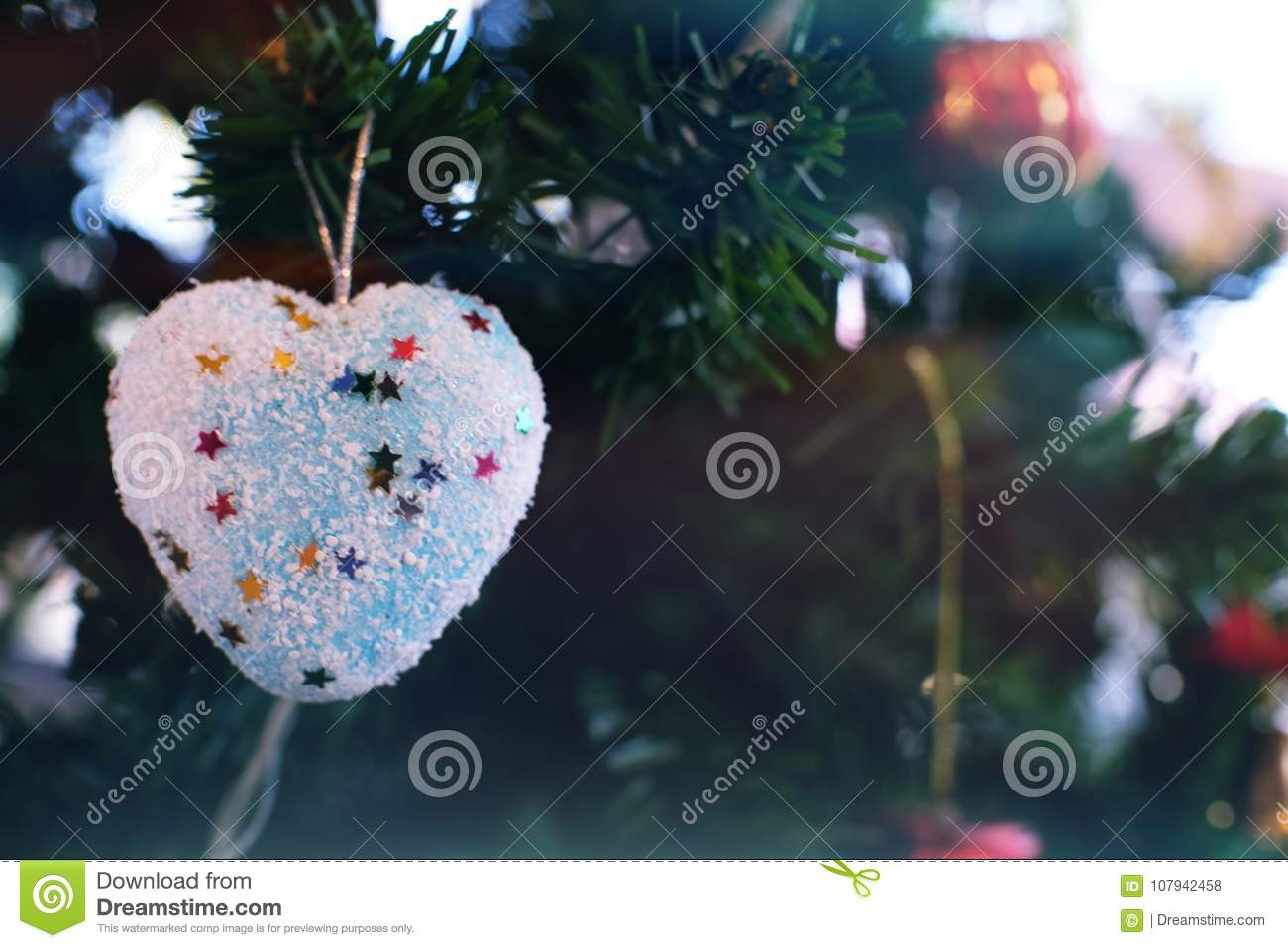 abstract blurred of christmas tree bokeh background new year ce