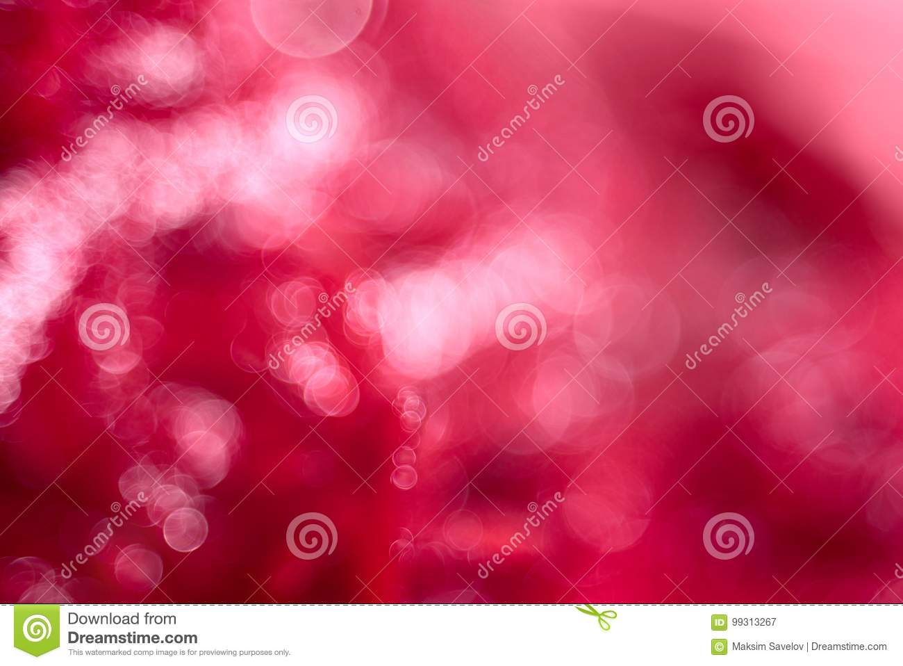 Abstract blurred crimson background with bokeh