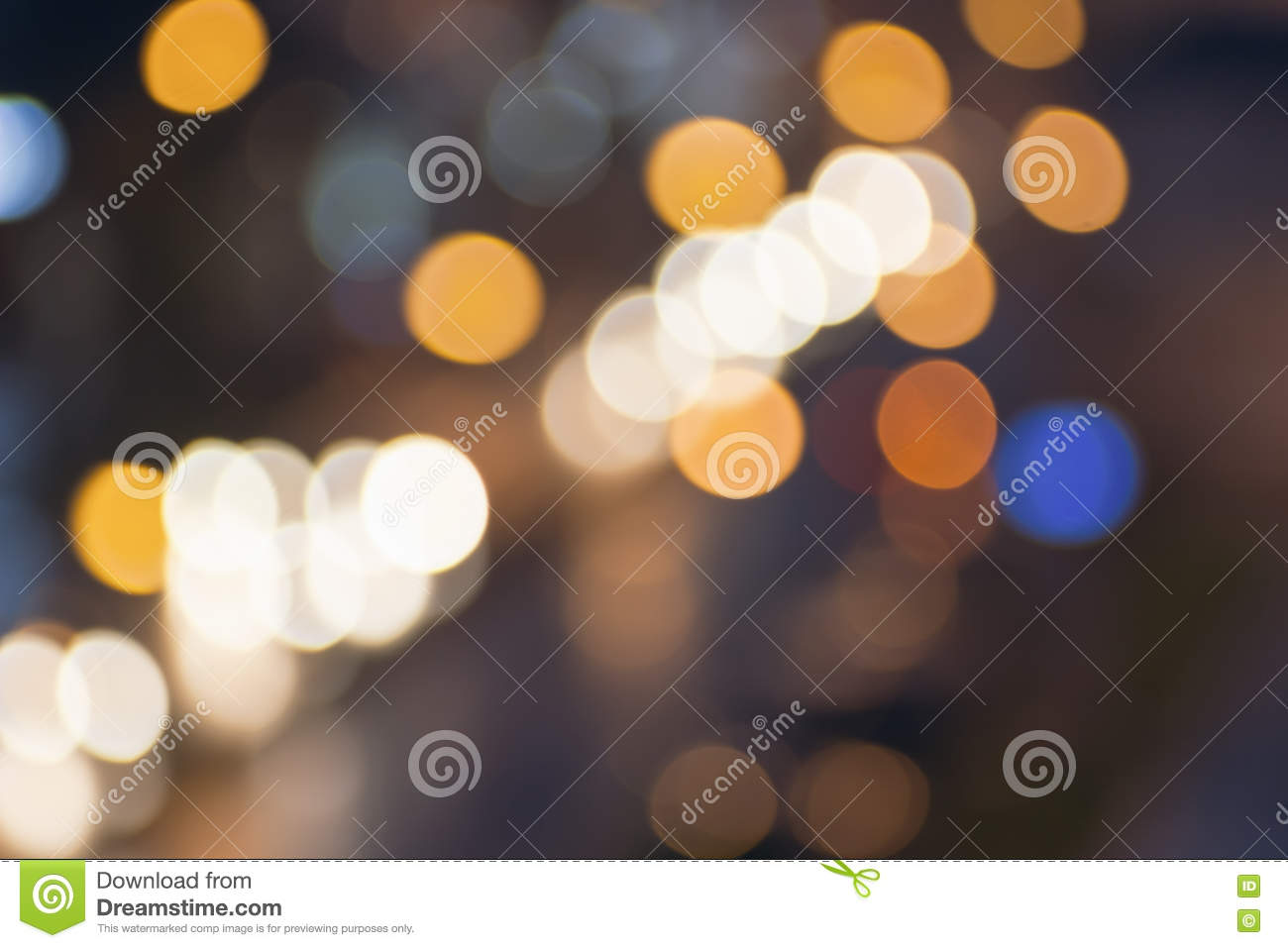 Abstract blurred night city lights. Blur backgrounds concept. Blur of cityscape in Blue hour. Blur wallpaper concept. Blurry nigh