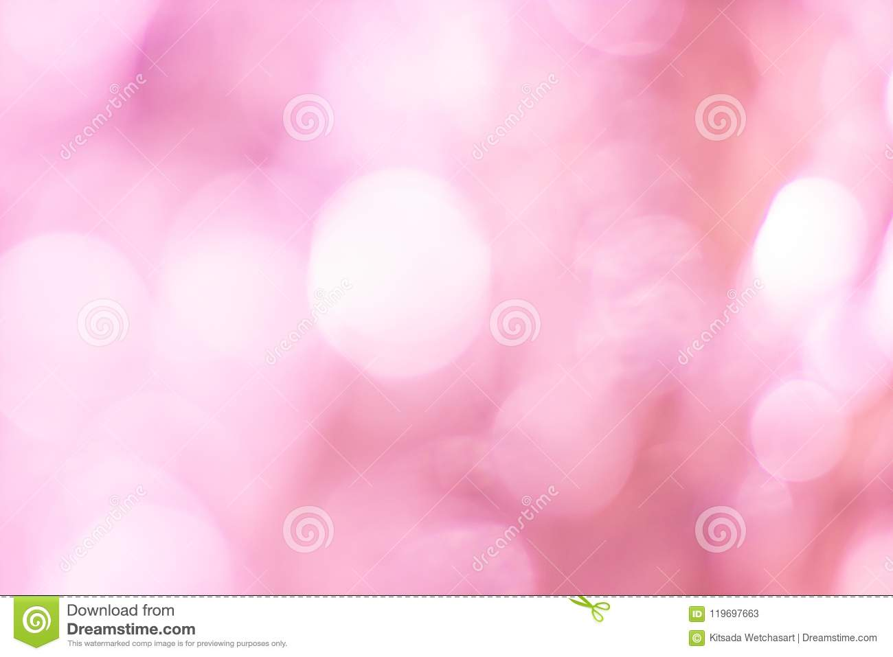 Abstract Blurred pink spring bokeh background