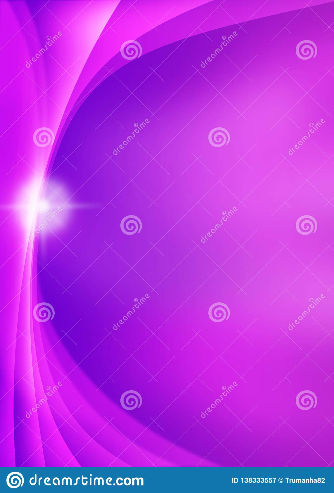 Shiny Sparkle and Curves in Blurred Violet and Purple Background