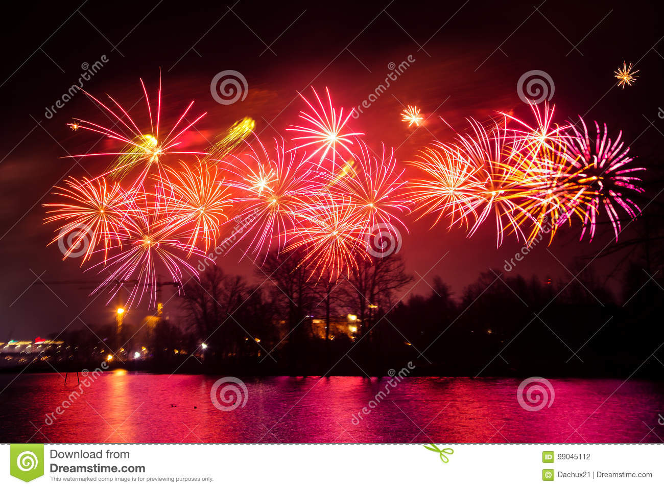 Abstract, Blurry, Bokeh-style Colorful Photo Of Fireworks ...