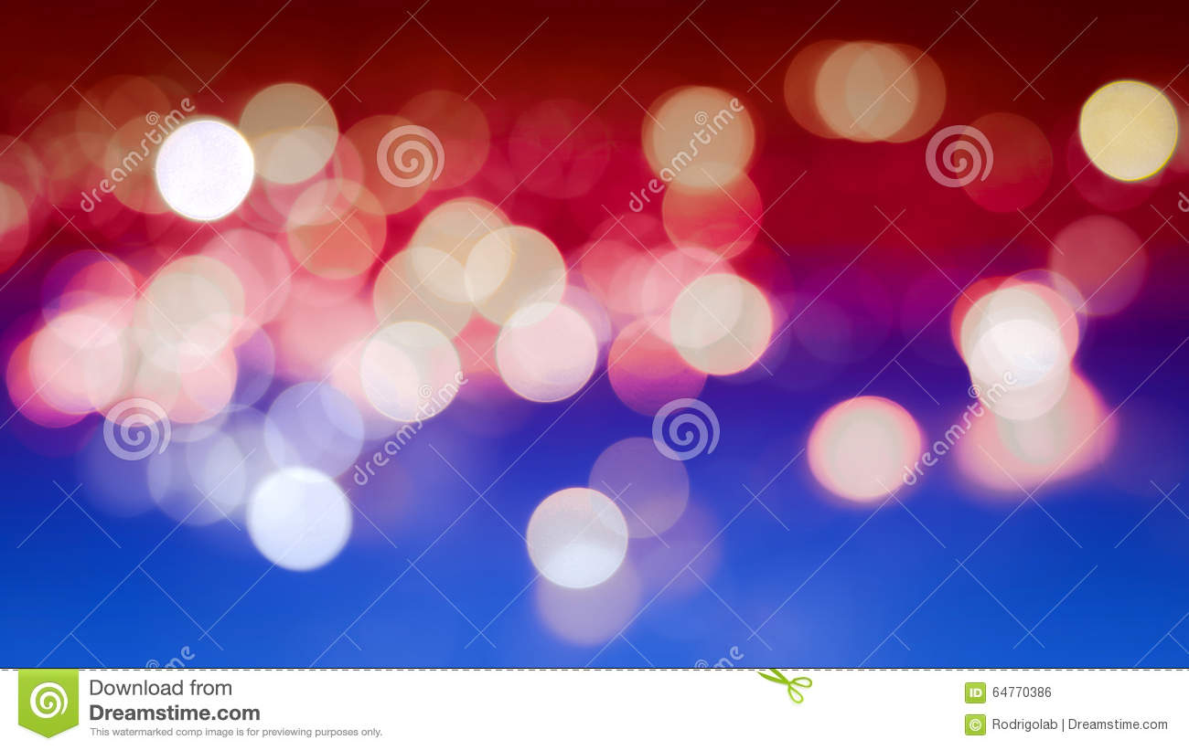Abstract Bokeh Background with Real Defocused Lights