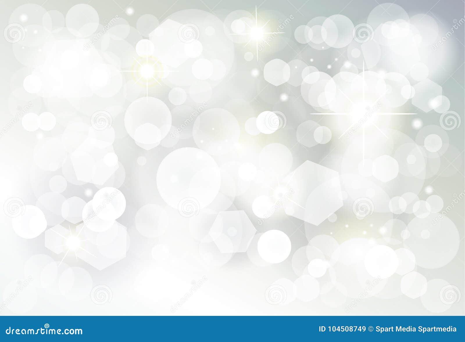 Christmas silver bokeh lights blurred wallpaper