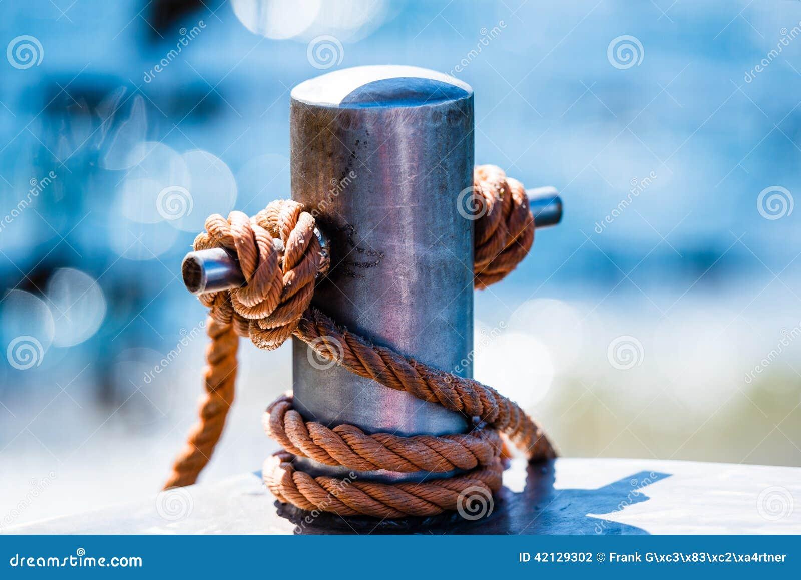 Abstract: Bollard And Rope Stock Photo - Image: 42129302