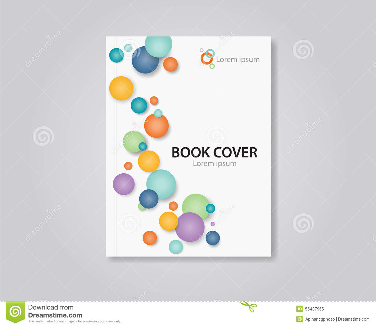 Book Cover Design Cdr ~ Abstract book and brochure cover template design editable