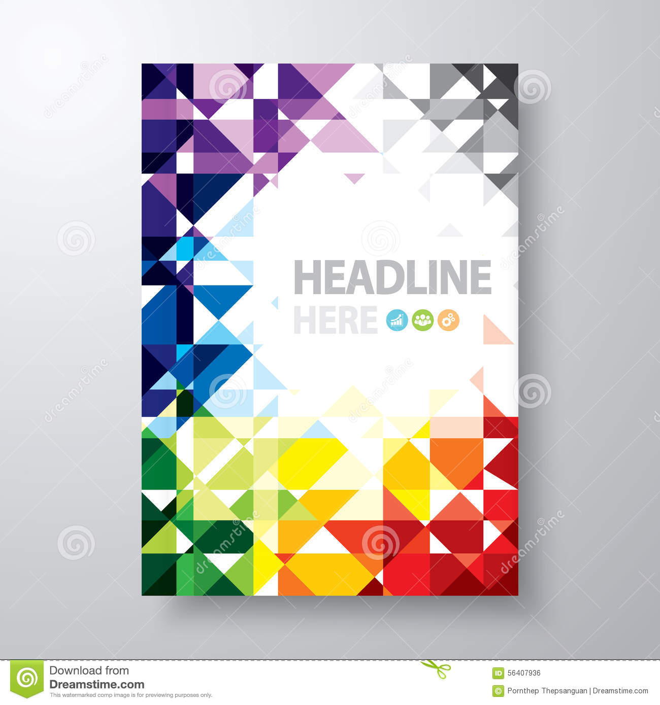 Abstract Book Cover Stock Vector Image 56407936
