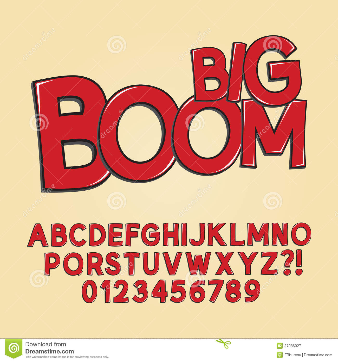 Favoloso Abstract Boom Pop Art Font And Numbers Stock Vector - Image: 37986027 KP02