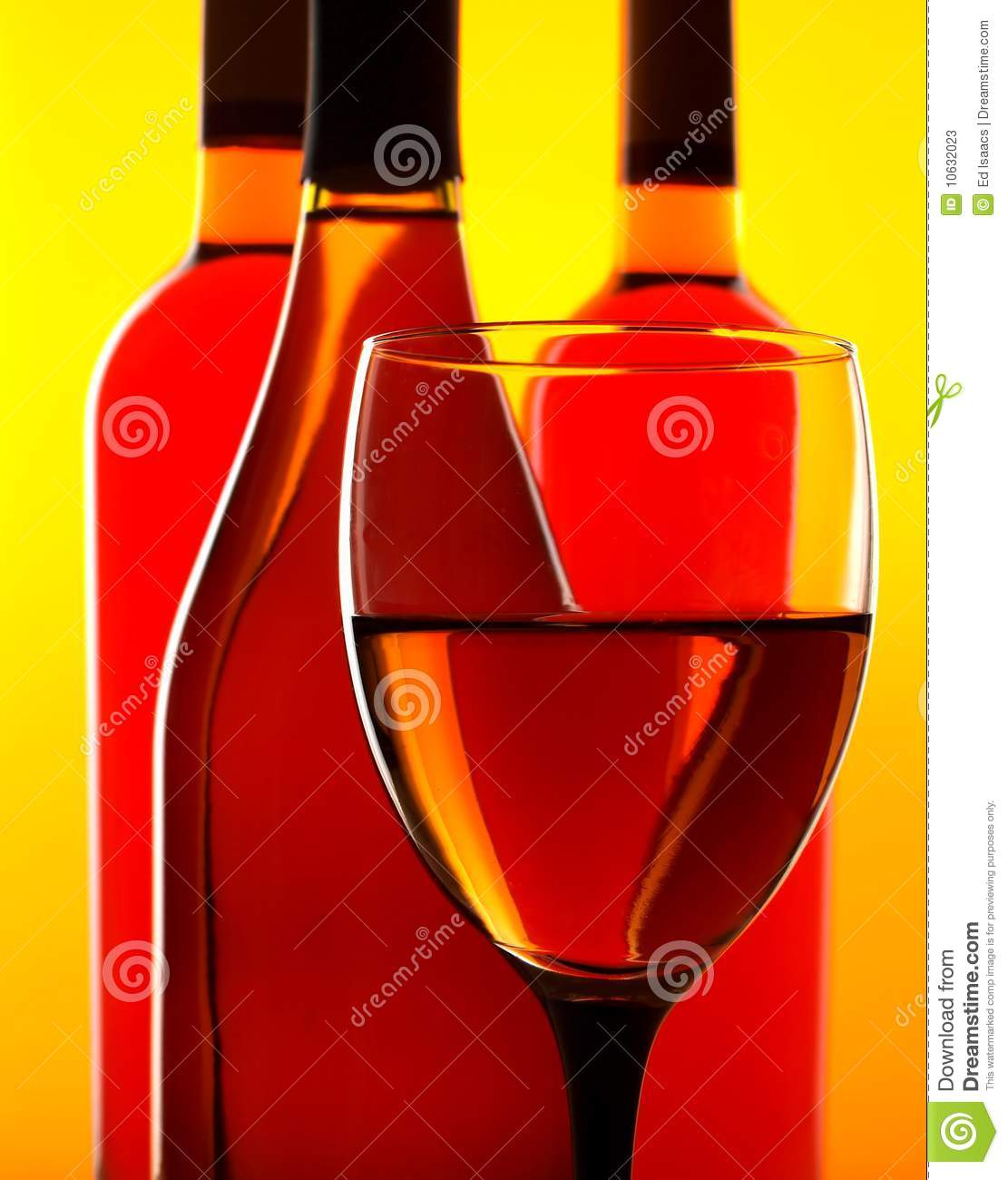 Abstract Bottle & Glass Background