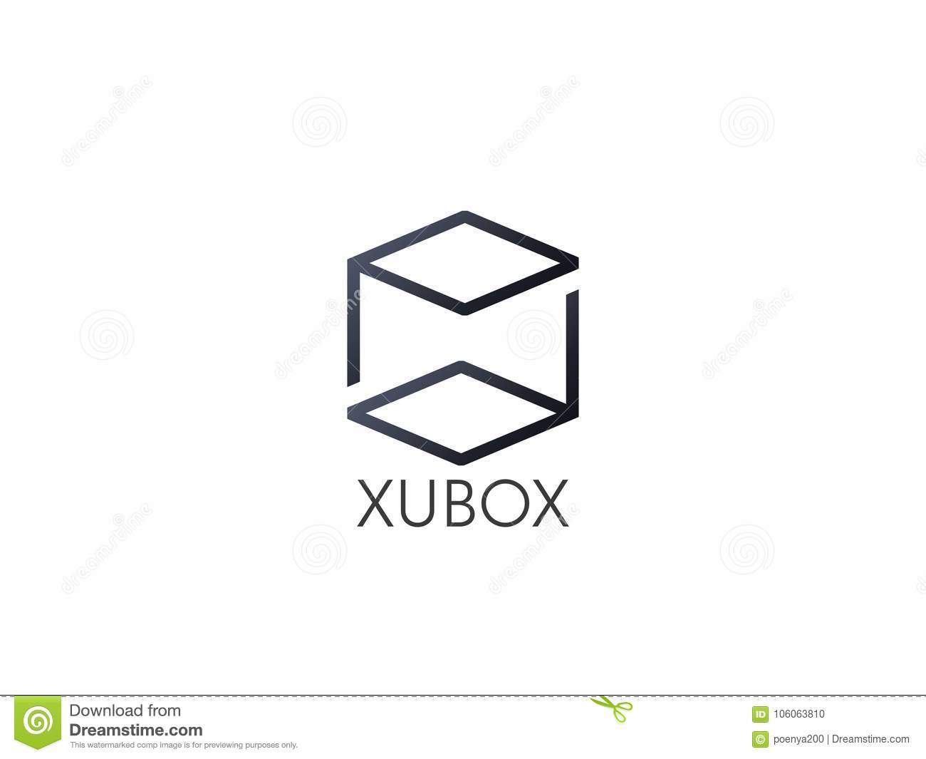 abstract box cube logo icon template blockchain and technology