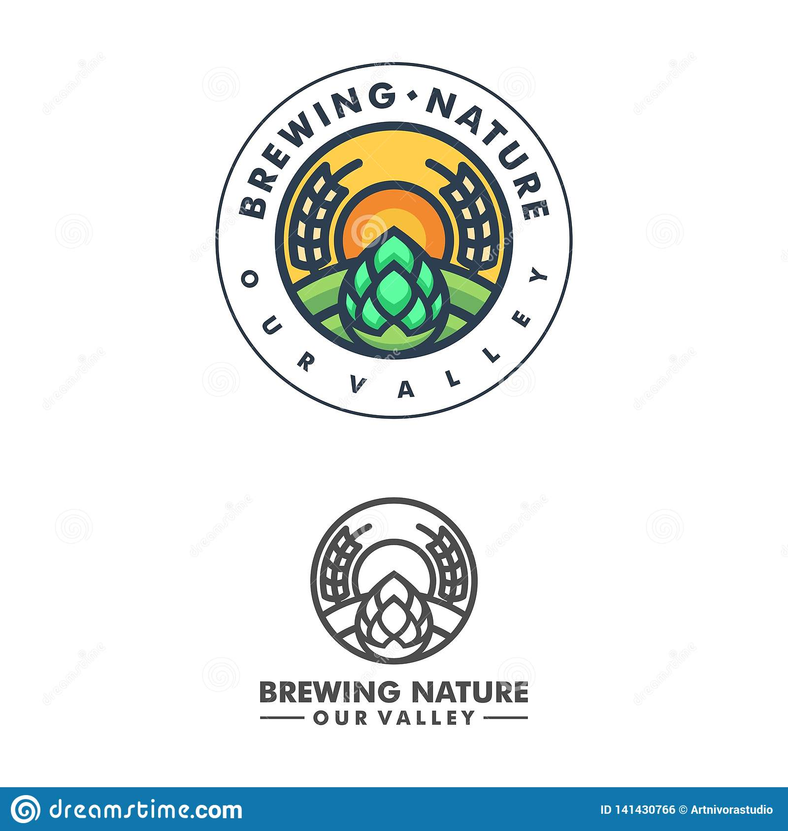 Abstract Brewing Concept illustration vector Design template