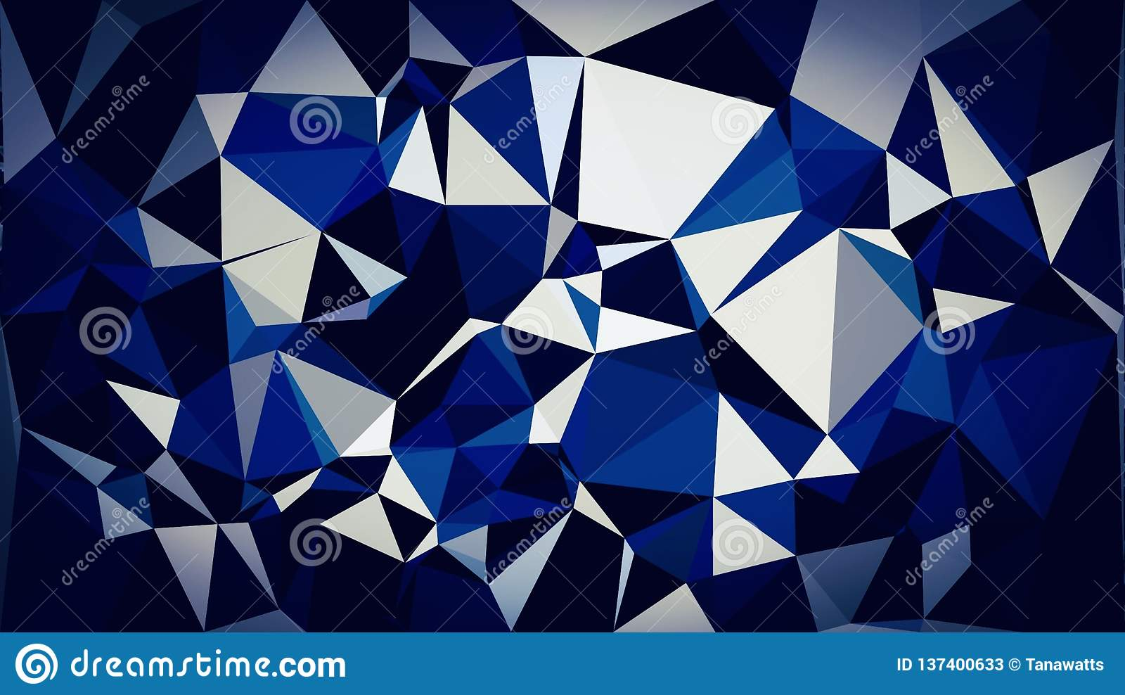 Abstract Bright Blue White Dark Black White Color Wallpaper