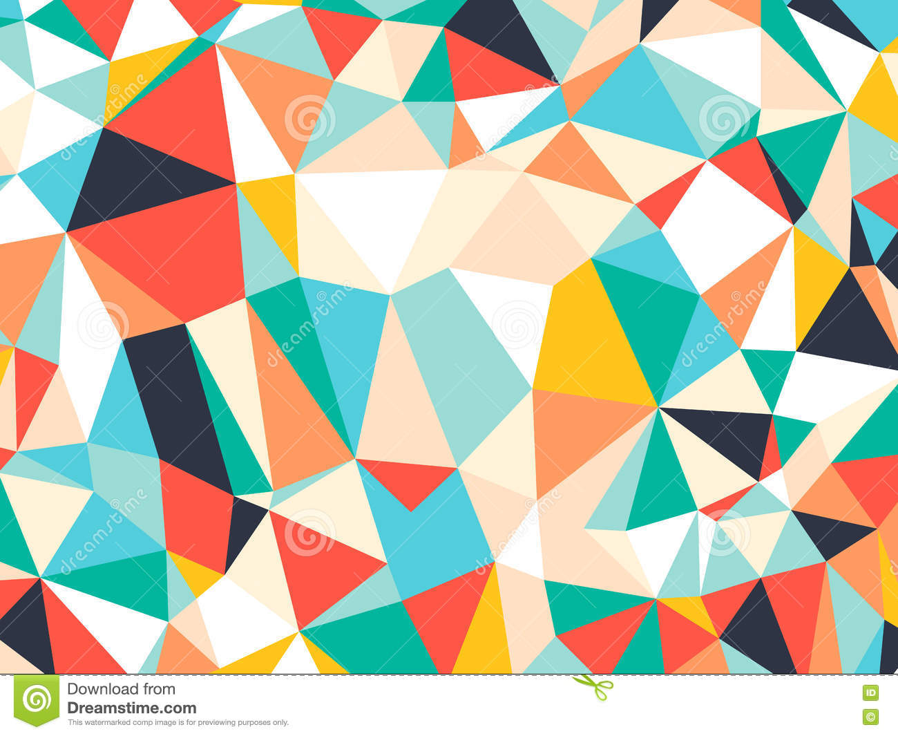 Abstract Bright Colorful Random Triangle Geometric ...