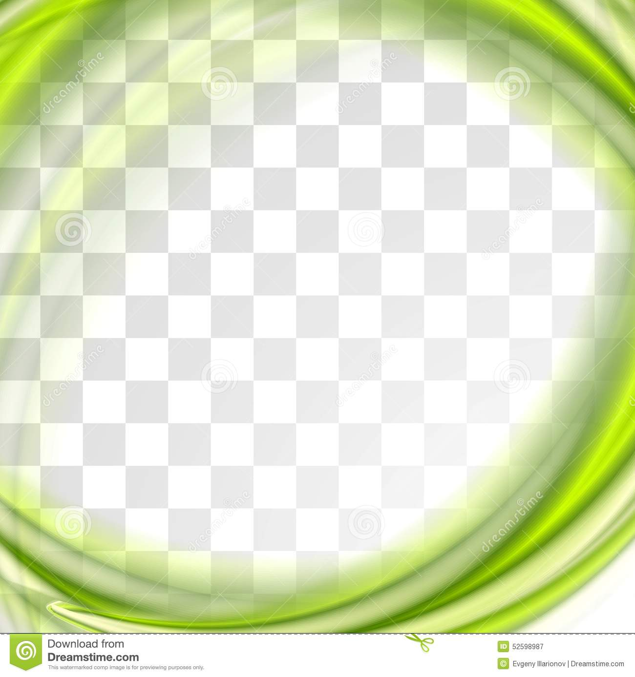 Abstract Bright Green Waves Design Stock Vector Image