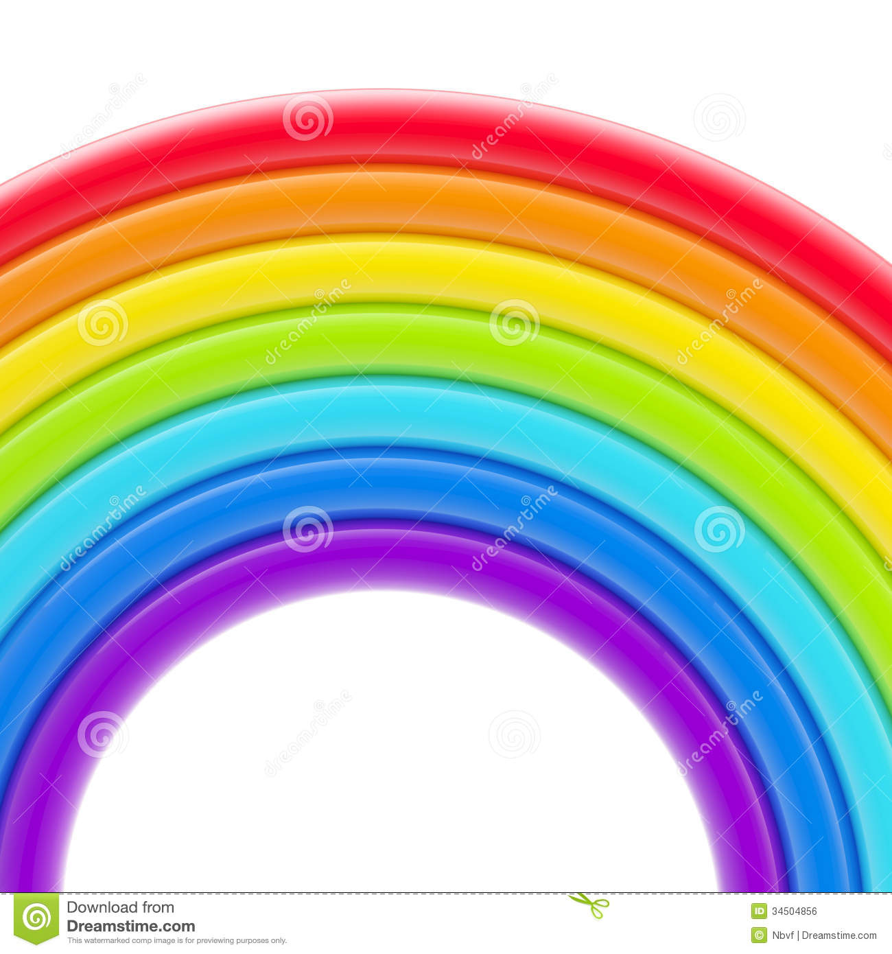 Abstract bright rainbow glossy background