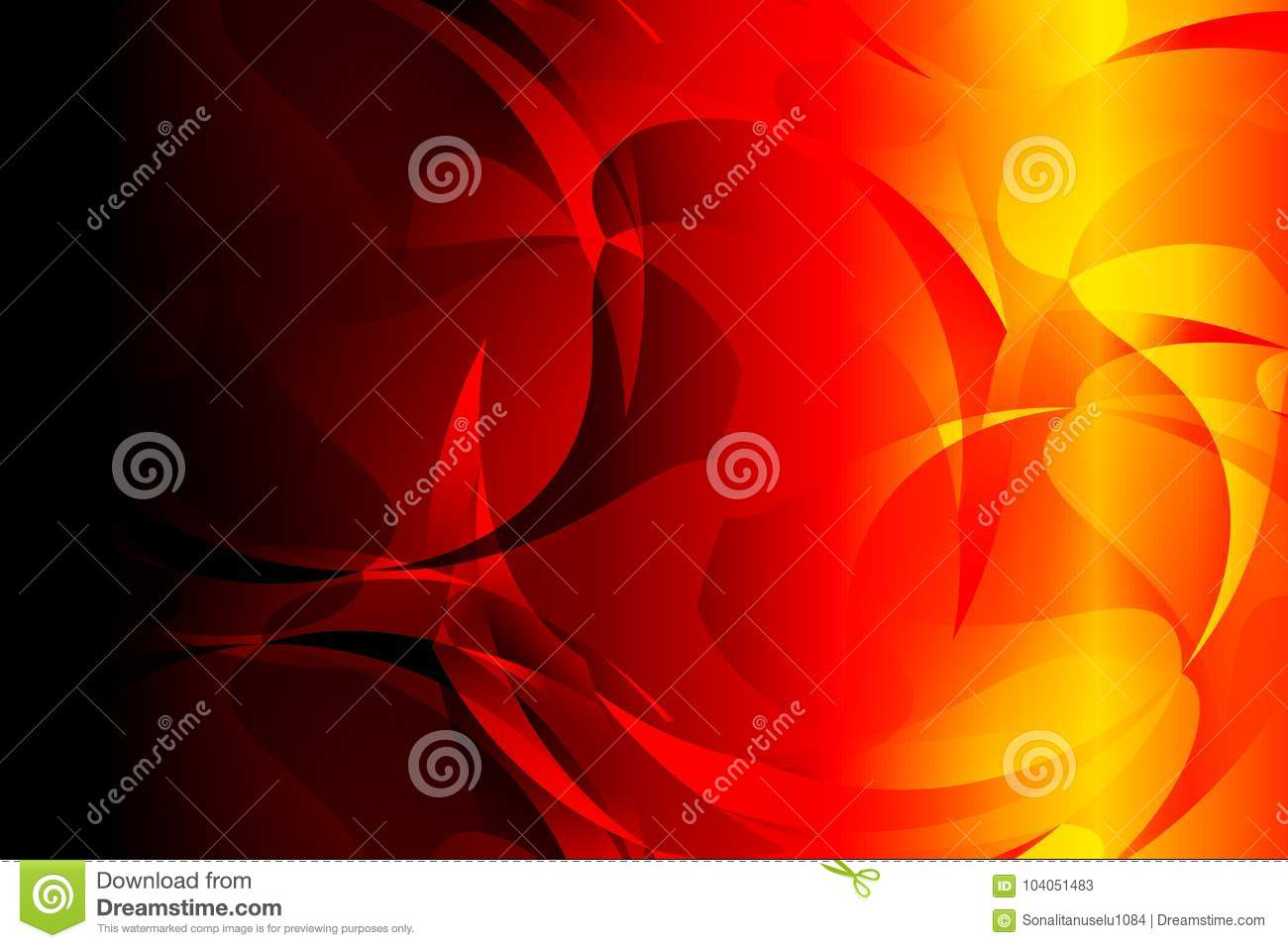 Abstract Bright Red Yellow Black Colors Background Vector