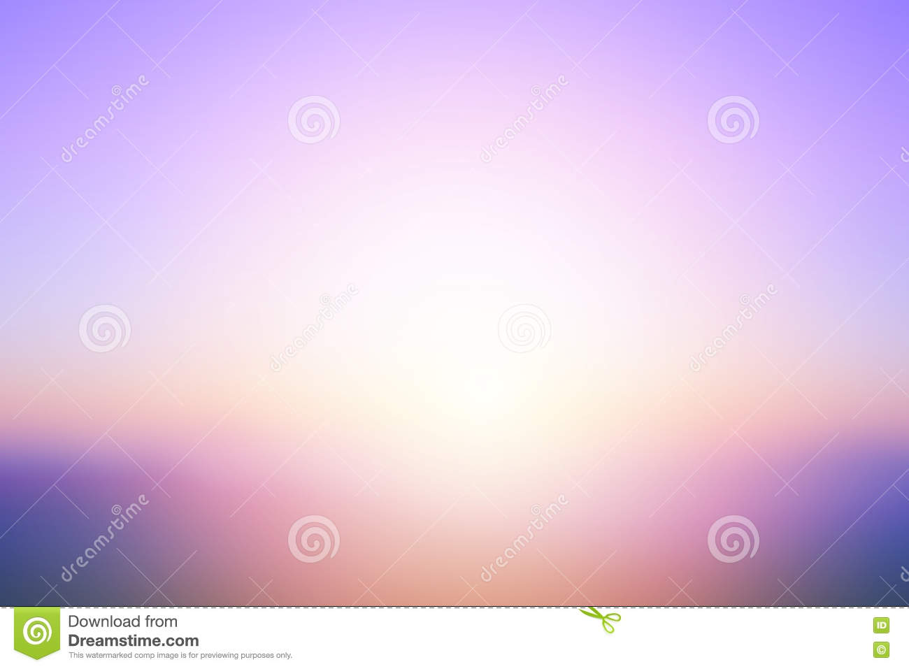 Abstract bright sunset with de focused sun lights blurred background