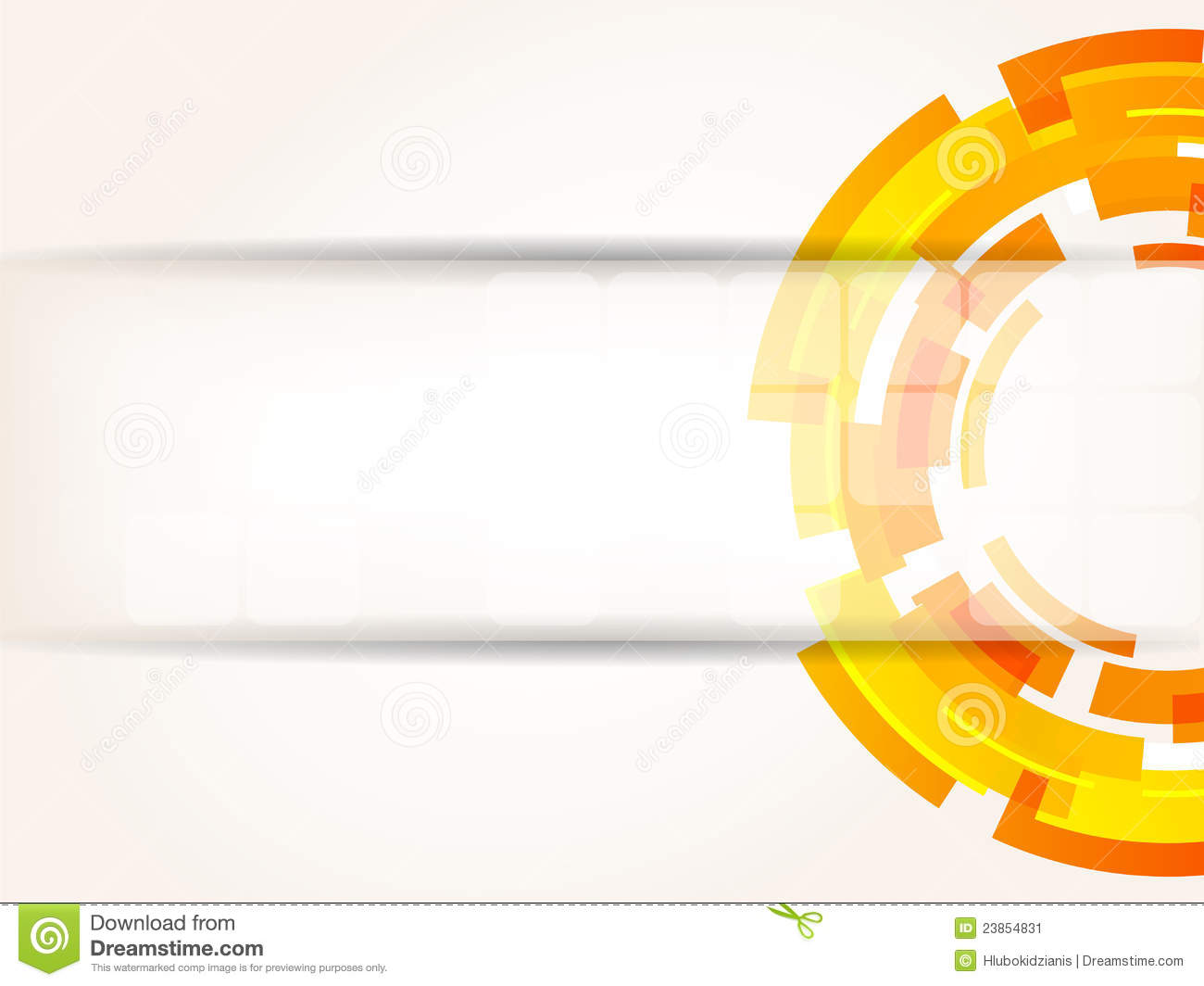 Abstract Bright Tech Background In Orange Color Stock Vector