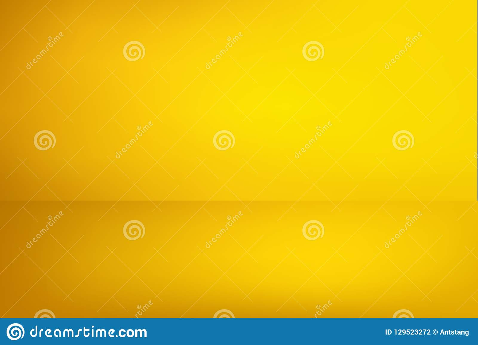 Abstract Bright Yellow Background  Empty Room With Spotlight Effect