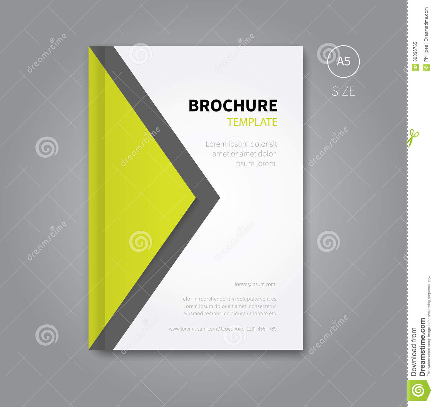 Abstract Brochure Cover Design Background Stock Vector
