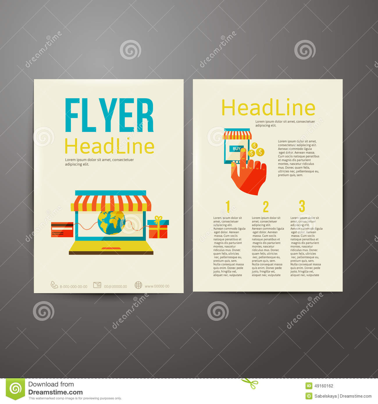 abstract brochure flyer design  online payment stock vector