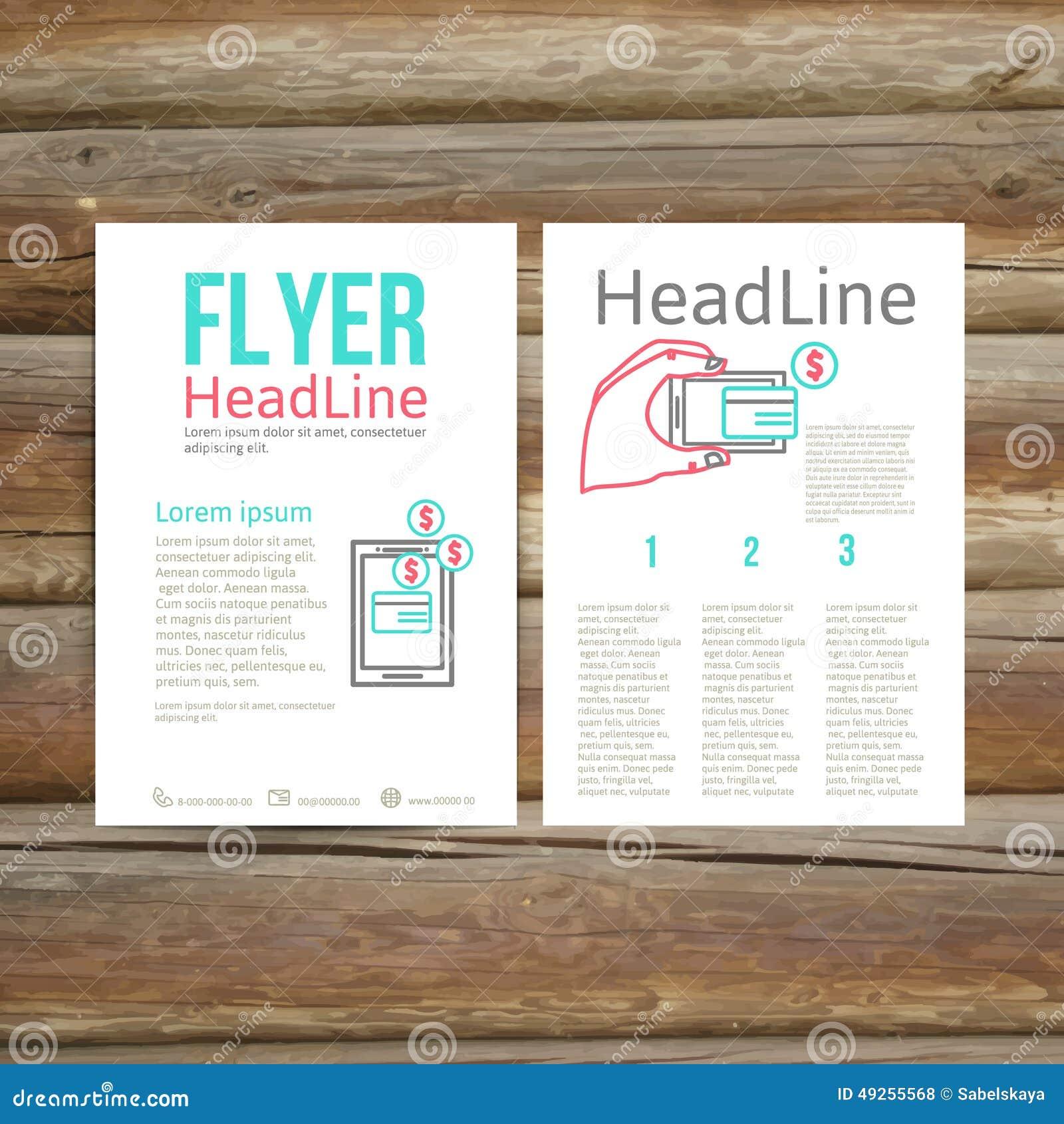 abstract brochure flyer design online payment stock vector