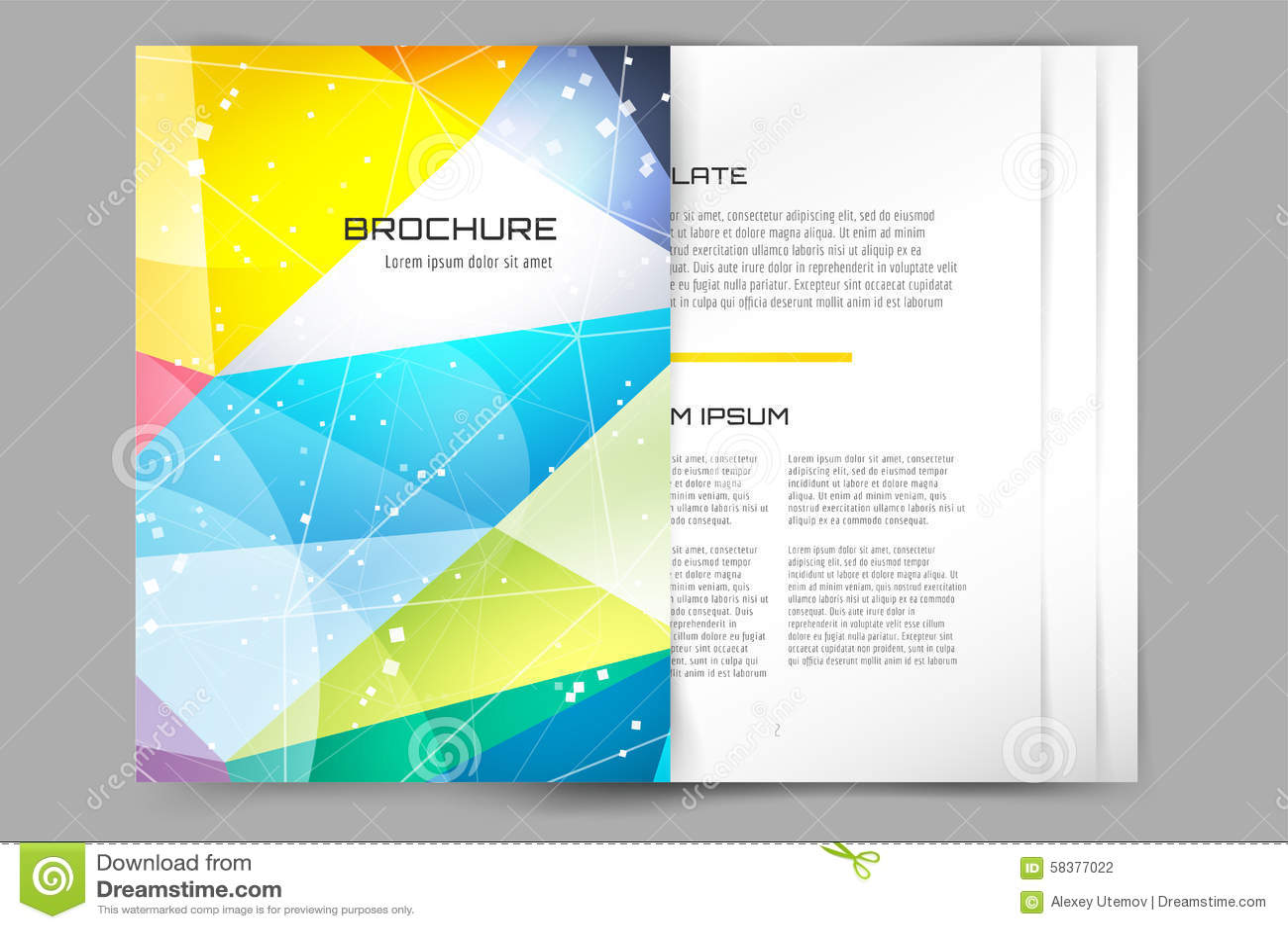 typography brochure design - abstract brochure or flyer design template stock vector