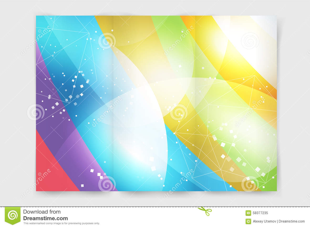 Abstract Brochure Or Flyer Design Template Stock Vector - Brochure blank template