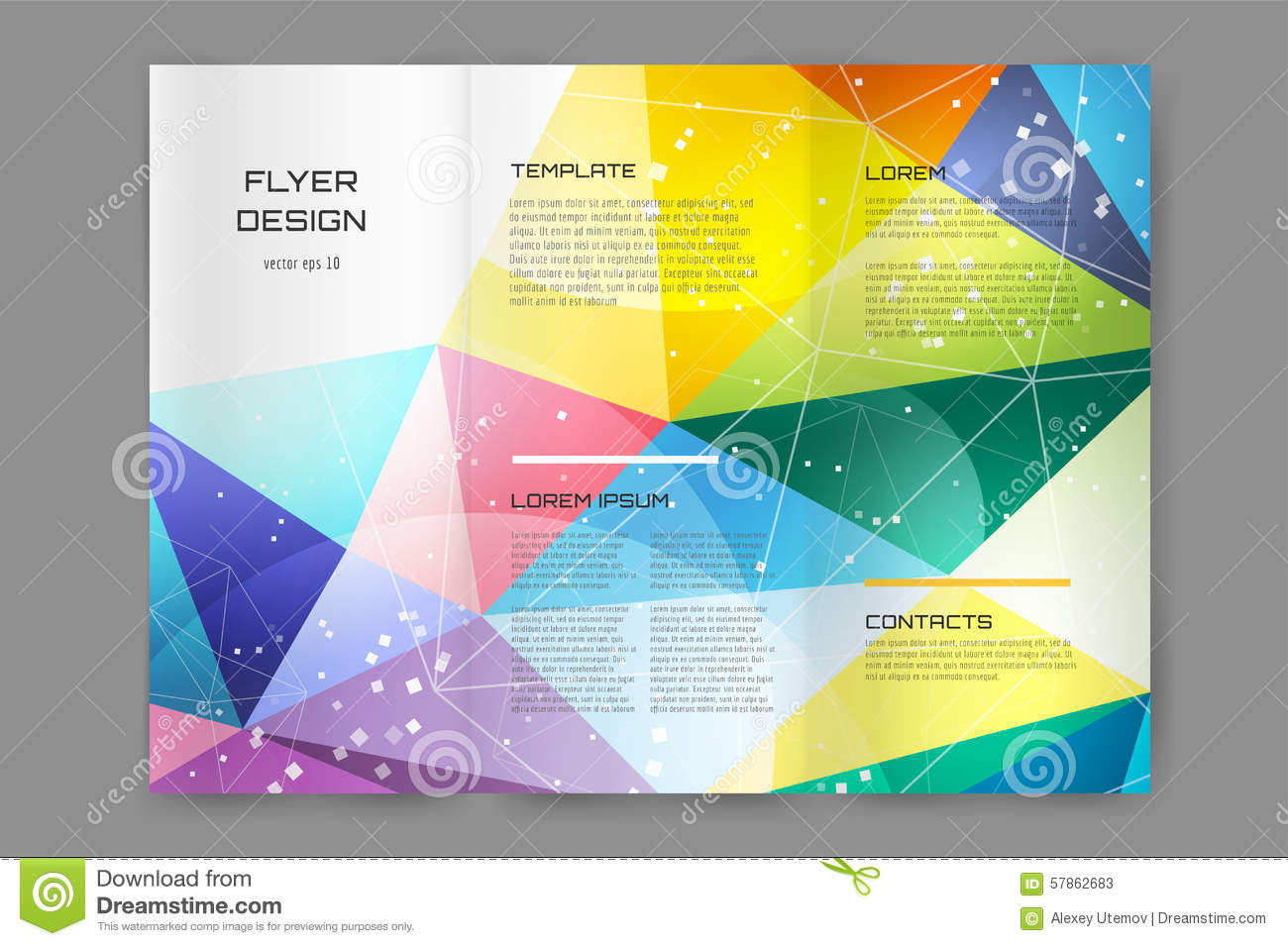 Abstract brochure design template. Abstract flyer design template ...
