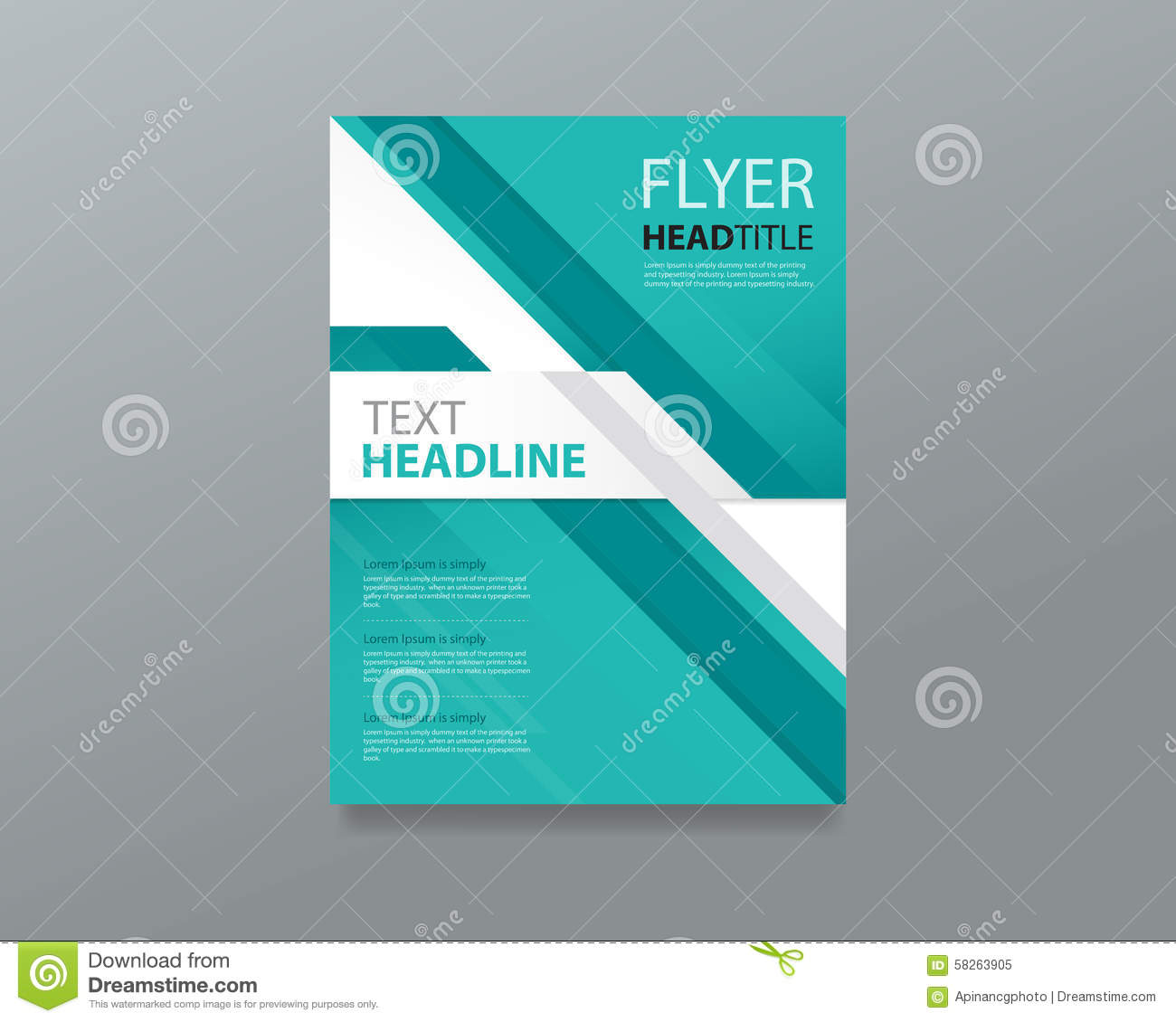 Brochure Booklet Flyer Or Book Cover Template Vector : Abstract brochure flyer template design editable book