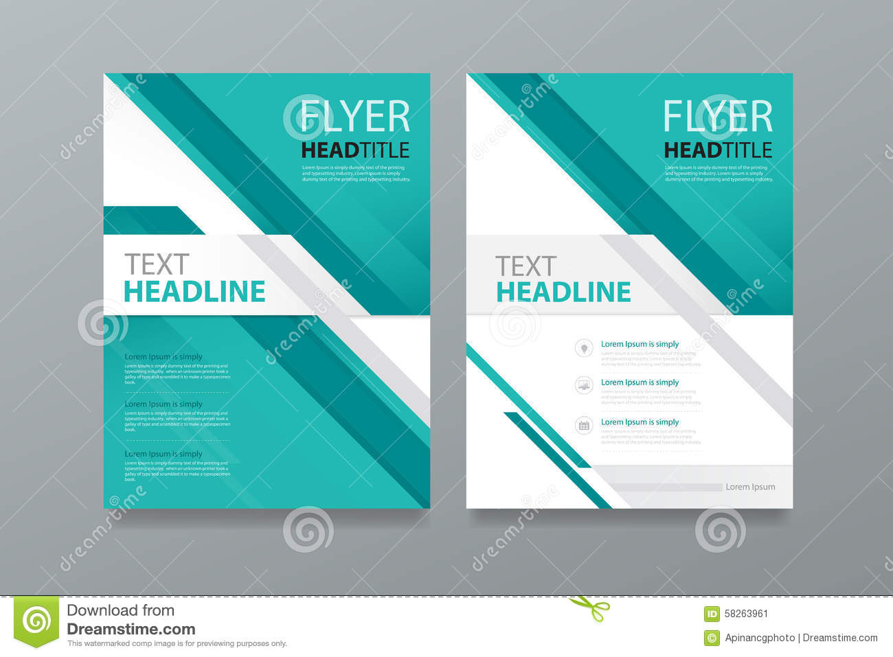 Abstract brochure template design magazine for Editable brochure templates