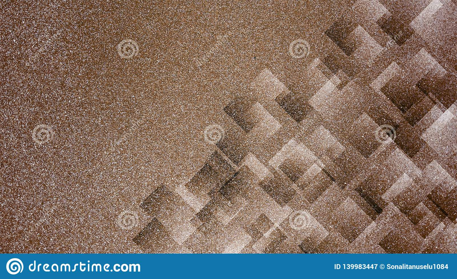 Abstract brown background shaded striped pattern and blocks in diagonal lines with vintage brown texture.