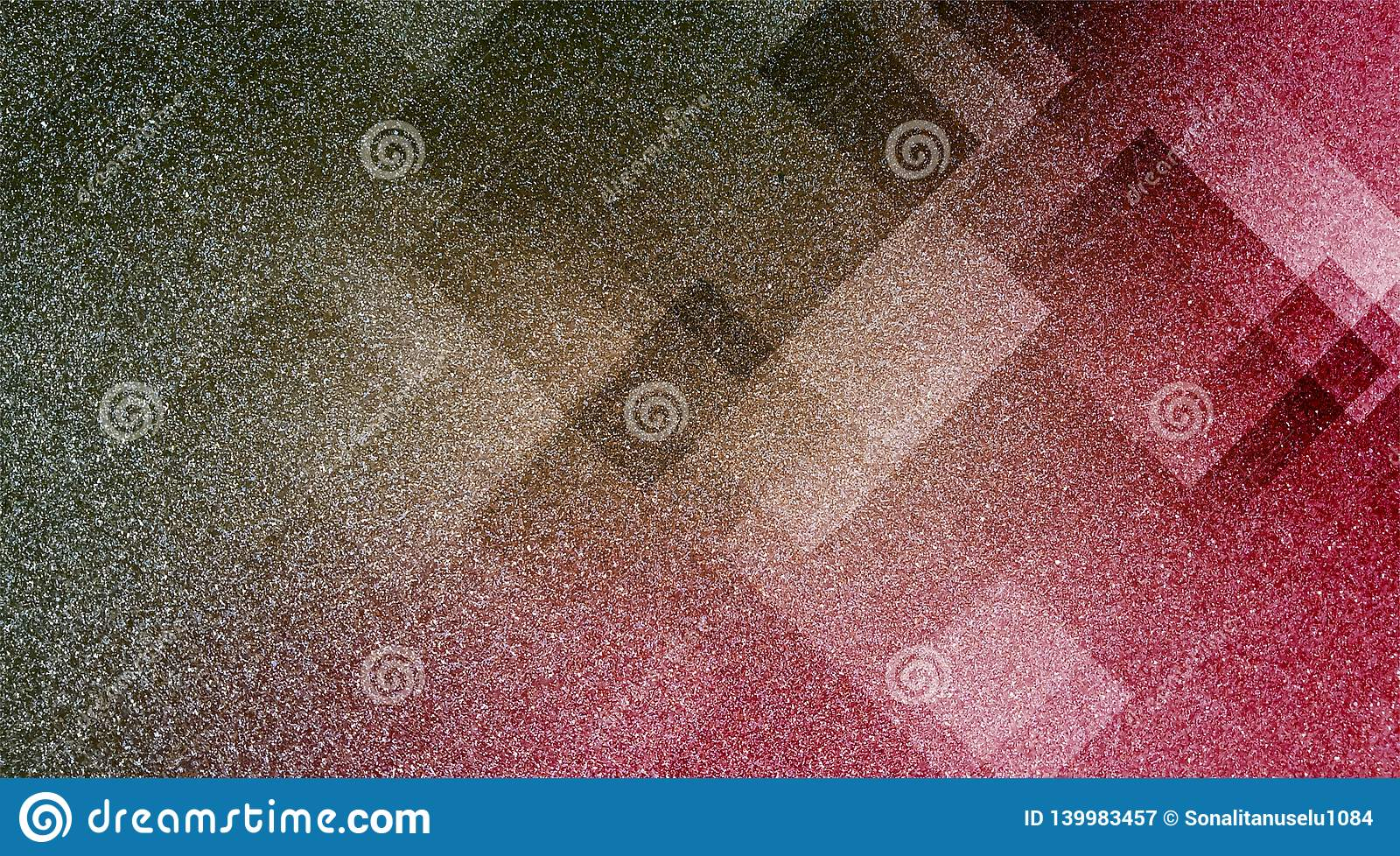 Abstract brown and pink background shaded striped pattern and blocks in diagonal lines with vintage blue brown and pink texture.